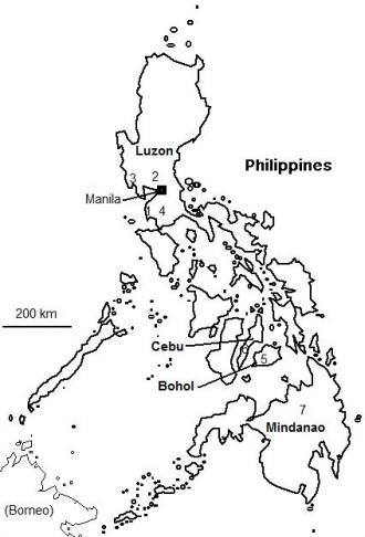 Philippines Map Black And White.Philippines 2012 Birding Trip Report